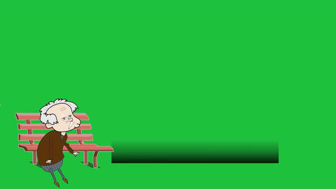Cartoon Girl on Bench, Lower Thirds with Greenscreen Animation
