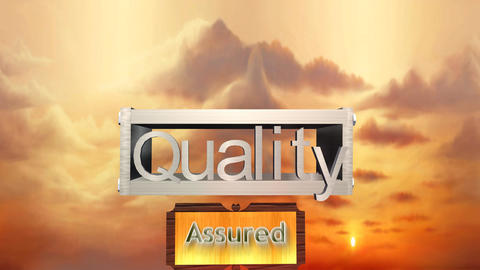 Quality Assured, Metallic Box Assembly Animation Stock Video Footage