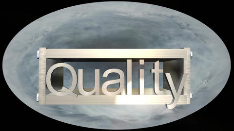 """Quality"" Logo Box with Earth Globe, Version 3 Animation"