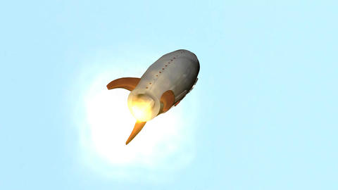 Vintage Rocket Blast Off Stock Video Footage