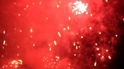 BLURRED FIREWORKS Stock Video Footage