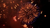 BLURRED FIREWORKS Footage