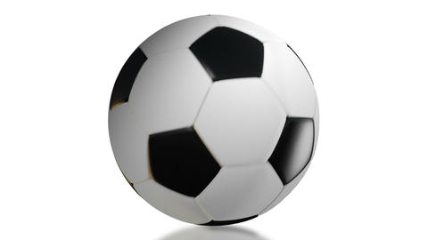 Soccer Ball, Rotation on white background Stock Video Footage
