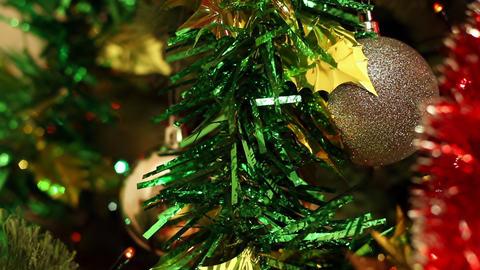 Christmas-tree decorations Stock Video Footage