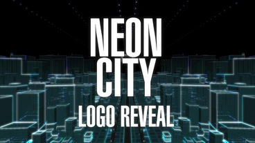 Neon City Logo Reveal After Effects Template