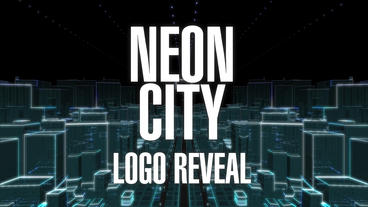Neon City Logo Reveal stock footage