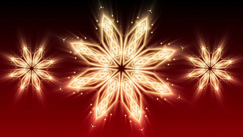 Red Christmas Star - Abstract Background 90 (HD) Stock Video Footage