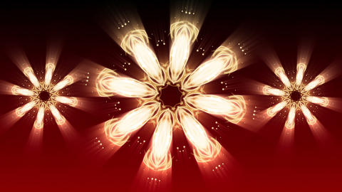 Red Christmas Star - Abstract Background 90 (HD) Animation