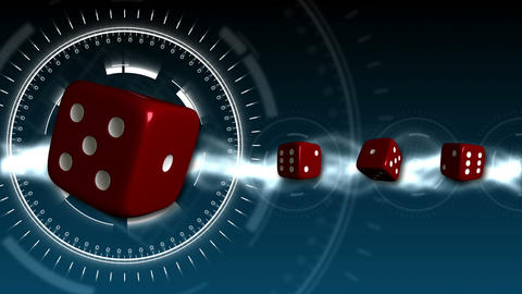 Casino Dice Background - Casino 16 (HD) Stock Video Footage