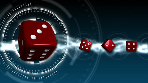 Casino Dice Background - Casino 16 (HD) Stock Video Footage