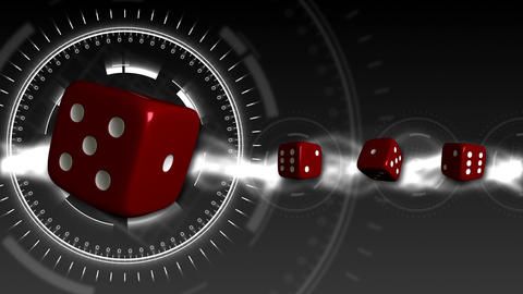 Casino Dice Background - Casino 18 (HD) Stock Video Footage