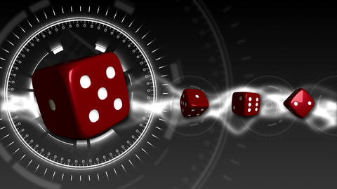Casino Dice Background - Casino 18 (HD) Stock Video Footage