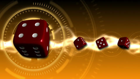 Casino Dice Background - Casino 20 (HD) Stock Video Footage