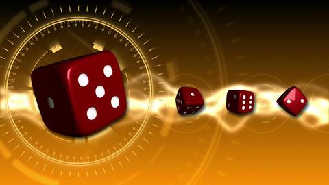 Casino Dice Background - Casino 20 (HD) Stock Video Footage