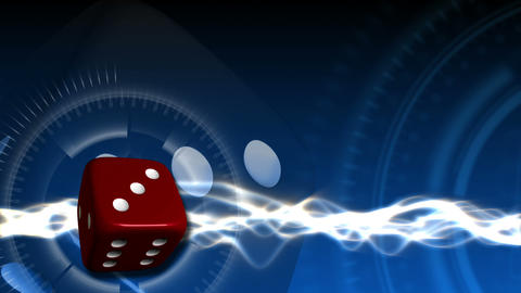 Casino Dice Background - Casino 22 (HD) Stock Video Footage