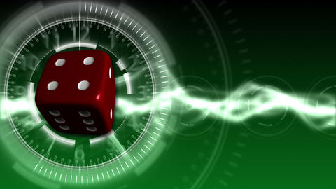 Casino Dice Background - Casino 26 (HD) Stock Video Footage
