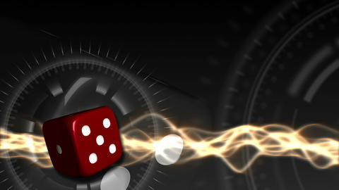 Casino Dice Background - Casino 28 (HD) Stock Video Footage