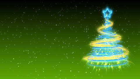 Christmas Tree Background - Merry Christmas 15 (HD) Stock Video Footage