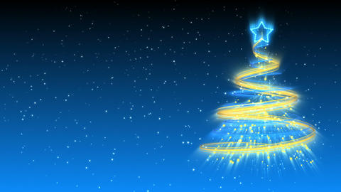 Christmas Tree Background - Merry Christmas 17 (HD) Stock Video Footage