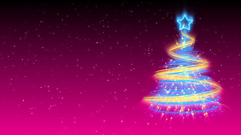 Christmas Tree Background - Merry Christmas 19 (HD) Stock Video Footage