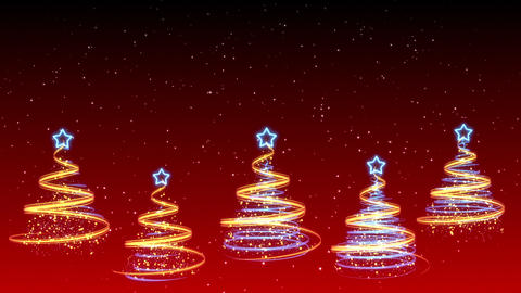 Christmas Trees Background - Merry Christmas 21 (HD) Stock Video Footage