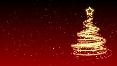 Christmas Tree Background - Merry Christmas 23 (HD) Stock Video Footage