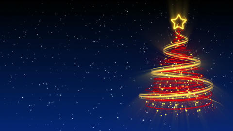 Christmas Tree Background - Merry Christmas 25 (HD) Stock Video Footage