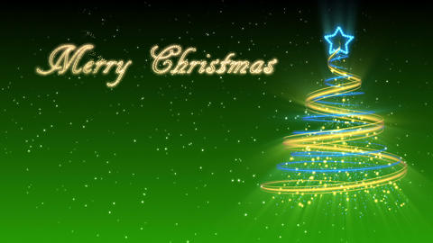 Christmas Tree Background - Merry Christmas 27 (HD) Stock Video Footage