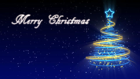 Christmas Tree Background - Merry Christmas 29 (HD) Stock Video Footage