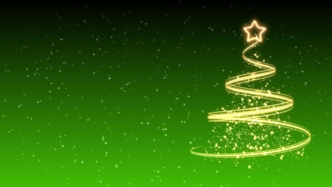 Christmas Tree Background - Merry Christmas 31 (HD) Stock Video Footage