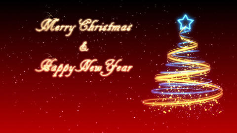 Christmas Tree Background - Merry Christmas 34 (HD) Stock Video Footage