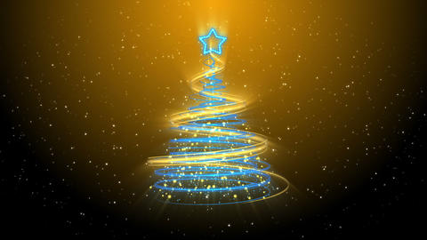 Christmas Tree Background - Merry Christmas 36 (HD) Stock Video Footage