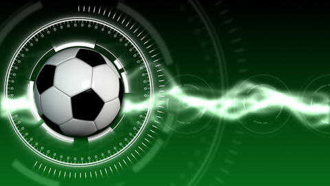 Soccer Ball Sport Background 01 (HD) Stock Video Footage