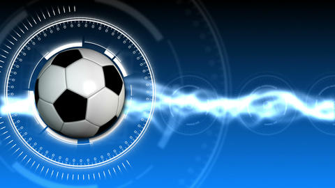Soccer Ball Sport Background 03 (HD) Stock Video Footage