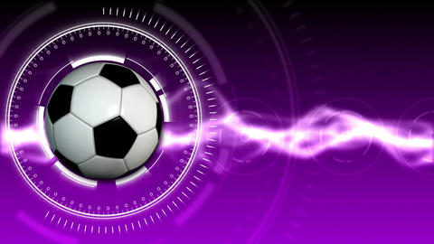 Soccer Ball Sport Background 05 (HD) Stock Video Footage
