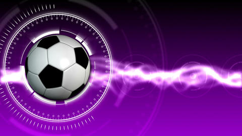 Soccer Ball Sport Background 05 (HD) Animation