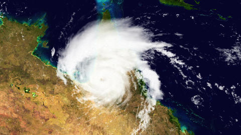 Hurricane Australia Satellite Design 01 Stock Video Footage