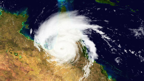 Hurricane Australia Satellite Design 01 Stock Video Footage