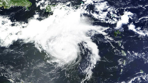 Hurricane Caribbean Satellite Design 01 Stock Video Footage
