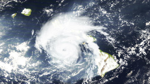 Hurricane Hawaii Satellite Design 01 Stock Video Footage