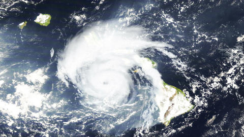 Hurricane Hawaii Satellite Design 01 Animation