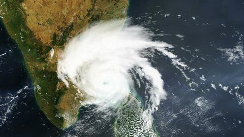 Hurricane India Bay Bengal Satellite Design 01 Animation