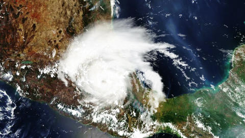 Hurricane Mexico Satellite Design 01 Stock Video Footage