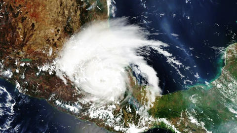 Hurricane Mexico Satellite Design 01 Stock Video Footage