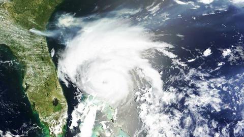Hurricane USA Florida Satellite Design 01 Stock Video Footage