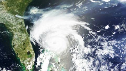Hurricane USA Florida Satellite Design 01 Animation