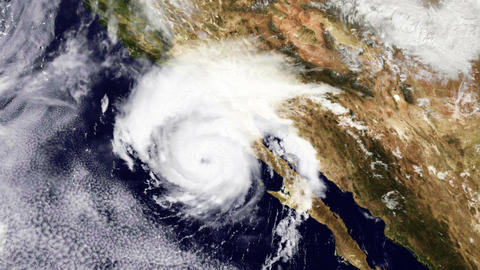 Hurricane USA West Coast Satellite Design 01 Stock Video Footage