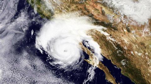 Hurricane USA West Coast Satellite Design 01 Animation