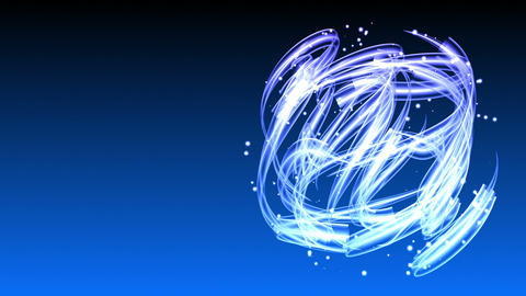 Light Streaks Circle - Abstract Background 66 (HD) Stock Video Footage