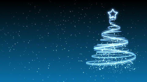 Christmas Tree Background - Merry Christmas 32 (HD) Stock Video Footage
